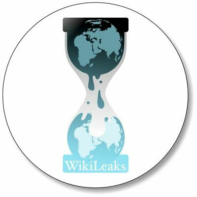 1 x Wikileaks 32mm BUTTON PIN BADGE Free Julian Assange Truth Freedom Protest
