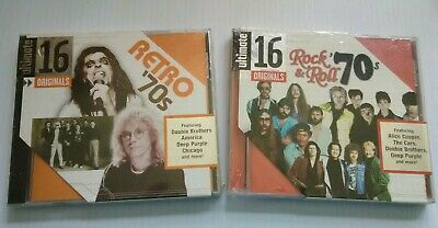 Various Artists ~ Ultimate 16 ORIGINALS Retro 70s + Rock & Roll 70s = 2 CDs NEW!