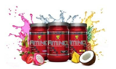 BSN Amino X 30 SERVINGS! BCAA Drink Recovery with Bcaas & FREE SAMPLE!