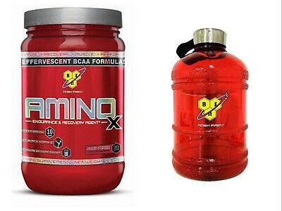 BSN Amino X 30 SERVINGS! BCAA Drink Recovery with Bcaas & BSN JUG!!!!