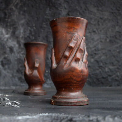 Pitcairn Island Carved Miro Goblets c.1900