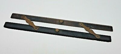 Vintage Antique Brass and Rosewood Maritime Nautical Parallel Rule