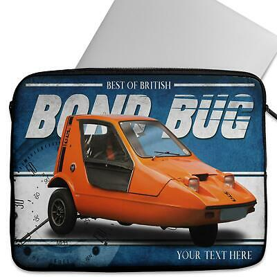 Personalised Laptop Cover BOND BUG Neoprene Sleeve Classic Car CL03
