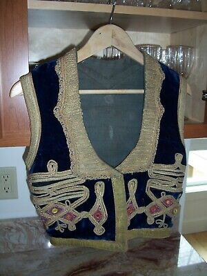 Antique Turkish Embroidered Jacket Ottoman Islamic Couching Embroidery 19th Cent