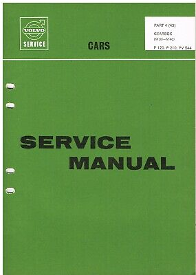 Volvo 120 Amazon Pv544 Saloon & P210 Estate Original 1966 Gearbox Service Manual