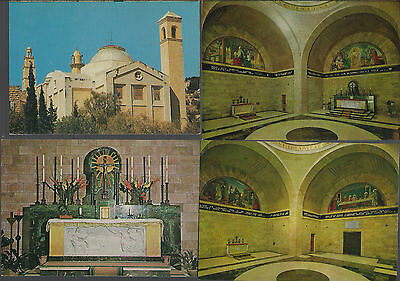 4 X VINTAGE post cards: bethany- the interior of st  lazarus