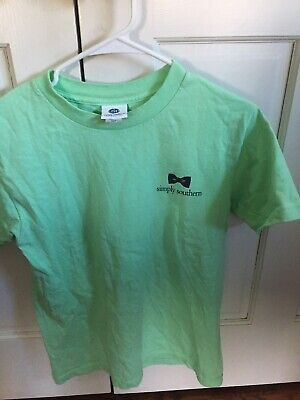 1f16f642957a5 SIMPLY SOUTHERN MINT Green Preppy Life Choices Bow Tie T-Shirt Sz ...