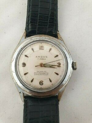 VINTAGE ARDAN WATCH  WORKING 17JEWELS  SWISS MADE 1950s INCABLOC ANTIMAGNETIC