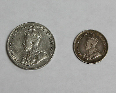 1919 & 1923 Lot of 2 Old Canada Nickels