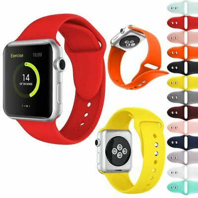 Replacement Silicone Strap Sport Band 38Mm 40Mm 42Mm 44Mm For Apple Watch 4321