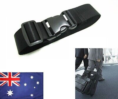 AU Adjustable Travel Luggage Suitcase Safe Belt Strap Trolley Cases Baggage Tie