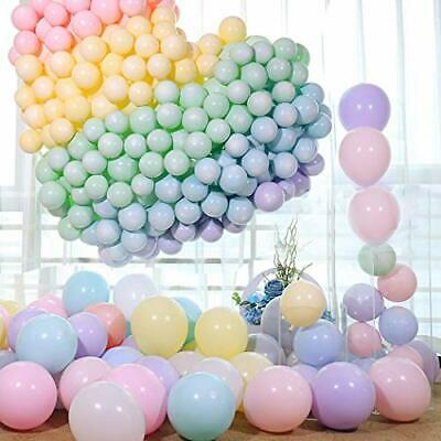 100pcs Pastel Latex Balloons 10 Inche Assorted Macaron Candy Colored Latex Party
