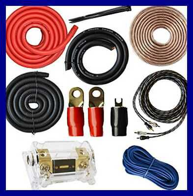 0 Gauge Amp Kit Amplifier Install Wiring 1/0 Ga Pro Installation Cables 5000W