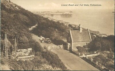 folkestone; Lower road and toll gate; 1926