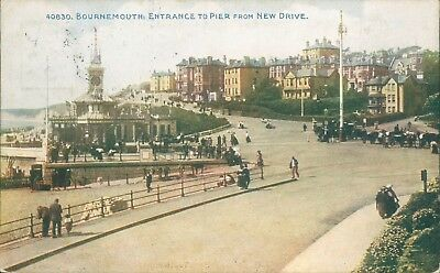 Bournemouth; entrance to pier from new drive; photochrom celesque