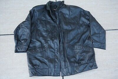 7e429ef96 WILSON MENS BLACK Leather Motorcycle Jacket XL **Free S&H** - $50.00 ...