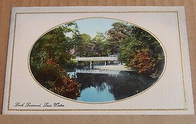 Postcard River Endrick Loch Lomond Balloch Embossed card unposted Scotland