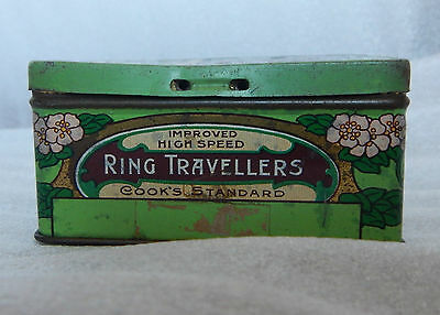 Art Nouveau Cook and Co Ring Travellers tin Manchester Social History 9x8x5cm cm