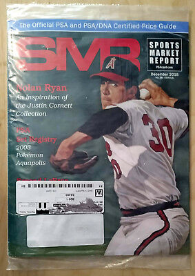 SMR Sports Market Report PSA/DNA Guide Magazine #293 Nolan Ryan Dec 2018 SEALED