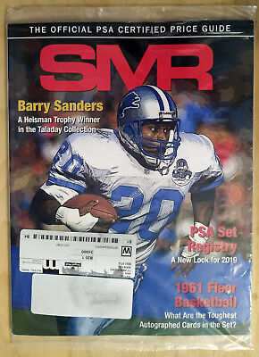 SMR Sports Market Report PSA/DNA Guide Magazine #295 Barry Sanders February 2019