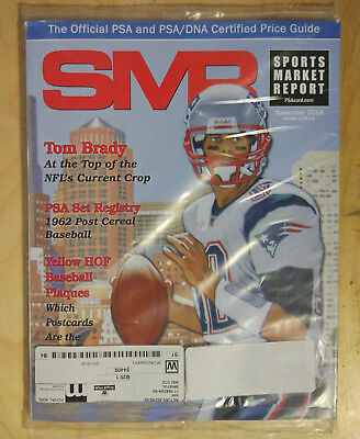SMR Sports Market Report PSA/DNA Guide Magazine #292 Tom Brady Nov 2018 SEALED