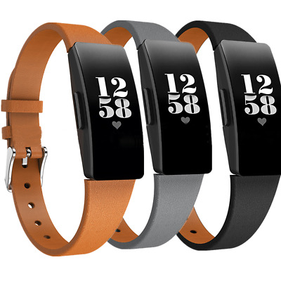 Stylish Soft Leather Band Strap for Fitbit Inspire / Inspire HR Watch Wristband