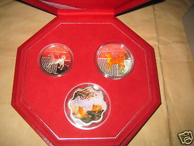 2006 Singapore Yr.DOG Color Proof silver Coins set with COA & BOX