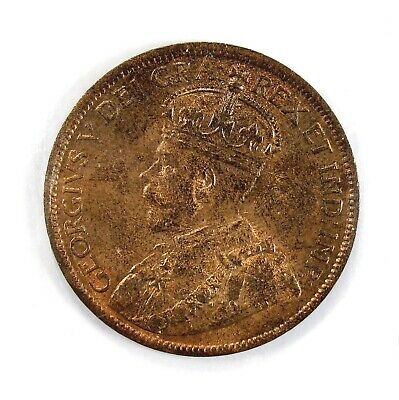 1917 Canada 1c Large Cent Red with Scratch #135222 R