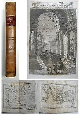1825 Greek HISTORY of Ancient GREECE & MACEDONIAN EMPIRE Leather with MAPS