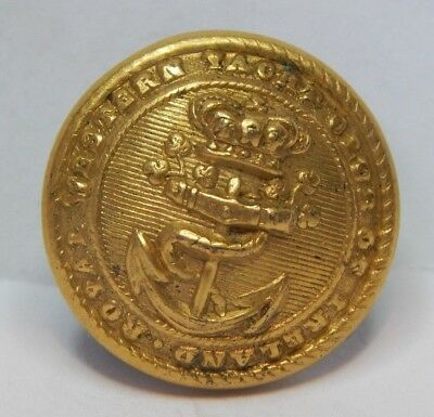 19th Century Royal Western Yacht Club Of Ireland Gilt Cuff Button 16mm armfield