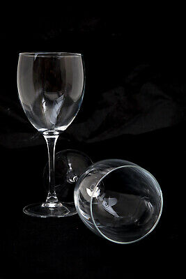 """Pair Of Crystal Goblet Wine Glass 8 .5"""" Tall3.25"""" Diameter"""