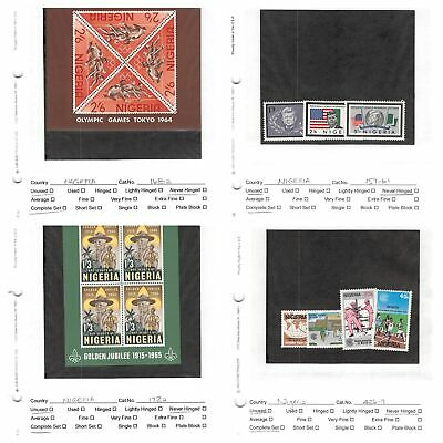 Lot of 90 Nigeria Mixed Condition Stamps Scott Range # 50 - 426, C221 #132361 X