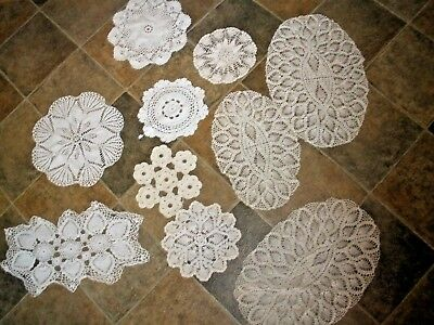 Lot of handmade Vintage Lace Doilies Crochet