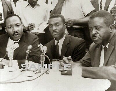 1963 MARTIN LUTHER KING Fred Shuttlesworth  Ralph Abernathy PHOTO