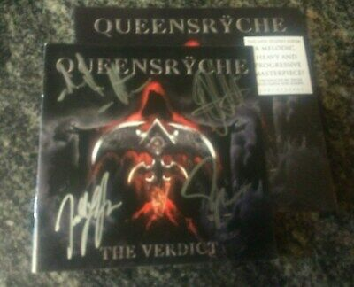 Queensryche The Verdict New Cd plus signed Extra Booklet