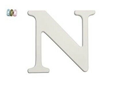 Koala Baby White Uppercase Wall Letter N New - Wood