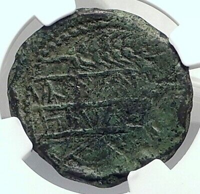 OBULCO IBERIA SPAIN 2ndCenBC Genuine Authentifc Ancient Greek Coin NGC i77361