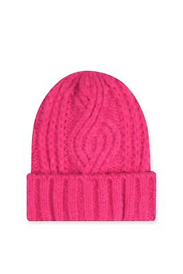 BNWT Topshop Pink Cable Knit Beanie Winter Hat, Onesize RRP £12