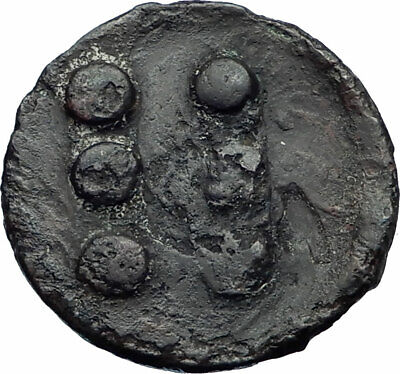 PANORMOS SICILY Authentic Ancient 415BC RARE R1 Greek Coin  ROOSTER NGC i77363