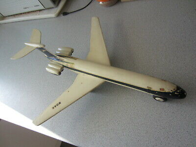 Casdon BOAC Cunard VC10 Plastic Friction Drive Aircraft Made in England 1960s
