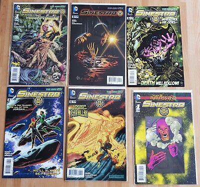 Lot 6 Comics VO DC _ Sinestro # 1-5 + Futures End one shot _first print 2014 bag