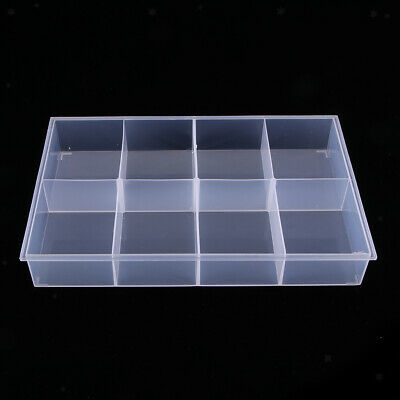 1 Pack 8 Grids Clear Small Parts Storage Box Beads Container Organizer Case
