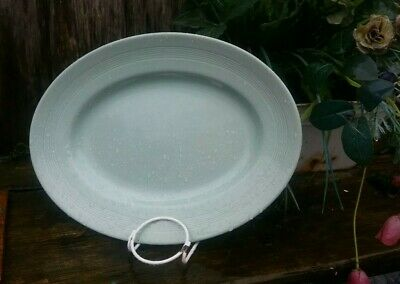 "Vintage Woods Ware Beryl Green - Oval Serving Platter 11.75"" excellent utility"