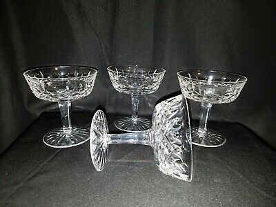 WATERFORD Champagne/Tall Sherbet in LISMORE Pattern-set of 4
