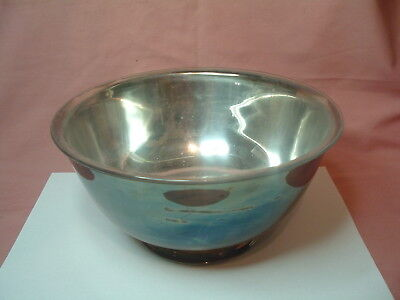Silverplate Footed Bowl Vintage 1982 Gorham Paul Revere Yc784 With Bowl Liner