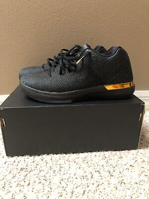 92fa2527c56e05 Nike Air Jordan XXXI 31 Low Gold Black Size 7