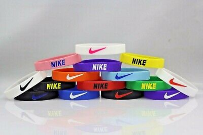 Nike Sport Baller Band Silicone Rubber Bracelet Wristband 25 pcs LOT MIX COLORS