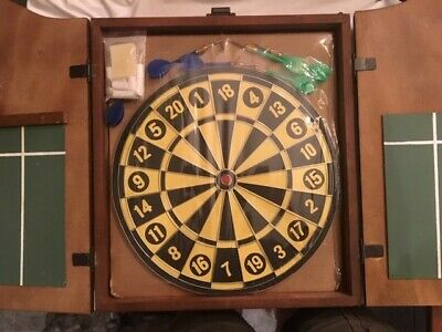 never used vintage dart board and cabinet sealed in plastic 85 59 rh picclick com vintage cheers dart board cabinet vintage dart board cabinet uk