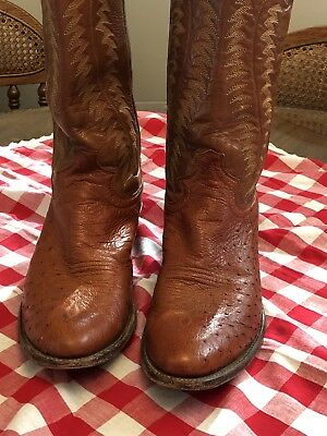 94230a79ffe62 JUSTIN COWBOY BOOTS Brown Leather Mens Size 10 B Narrow Ropers ...
