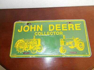 John Deere Collector License Plate